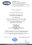 Certifikát pro ČSN EN ISO 3834-2