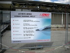 Informační panel generálního dodavatele stavby