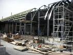 Montáž ocelové konstrukce jižní fasády 2