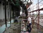 Montáž ocelové konstrukce jižní fasády 4