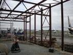 Montáž ocelové konstrukce haly expedice 1